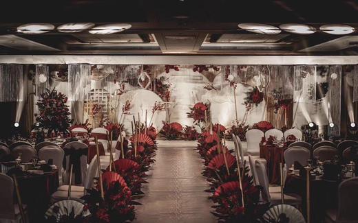 红白色系简约新中式定制婚礼