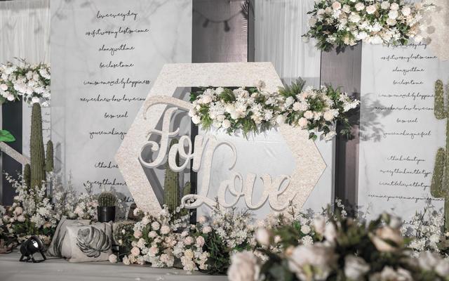 【狮子座婚礼】白色大理石纹婚礼
