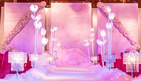 粉色系室内婚礼