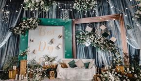 【不朽·婚礼】别样温馨 白绿色系美式婚礼