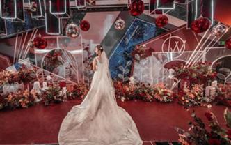 创意红色室内婚礼-时尚高端定制【几何恋歌】