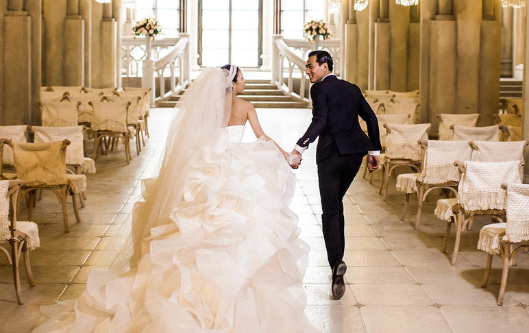 教堂求婚·电影场景·免费升级·抢档·米兰尊荣婚纱
