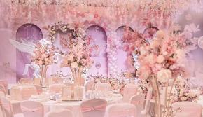 香格里拉粉色气球宫殿梦幻风