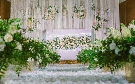 【花理派婚礼】森系风格大吊顶小清新婚礼