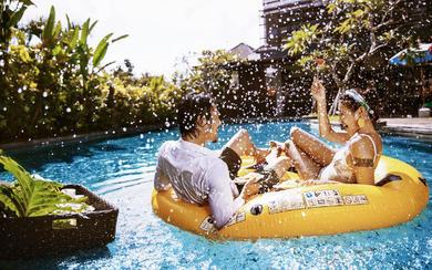 爱旅拍巴厘岛•原创作品•皇家花园别墅泳池