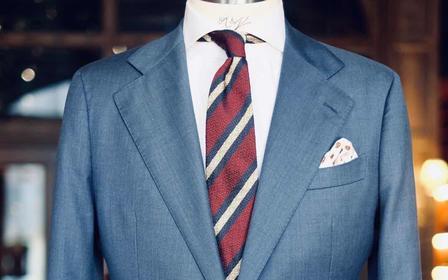 商务/日常/正式场所/灰蓝色高级质感男士5件套