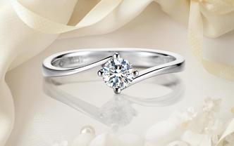 八心八箭显钻结婚求婚钻戒「初识钟情,终于白首」
