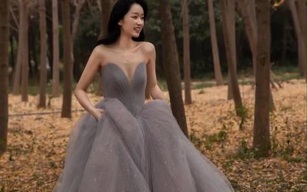【洛高定 星蓝】彩纱礼服