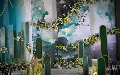 【热爱婚礼】山水墨绿系主题婚礼