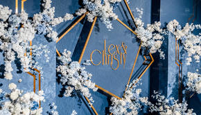 【蓝色系婚礼】小预算婚礼清新纯净深入你心