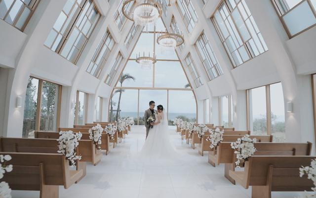 而且映画 - 冲绳美之教会教堂婚礼