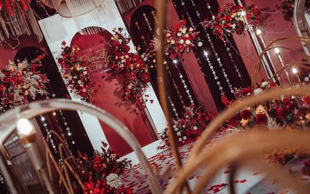 古摄影红绣球婚礼--红色系婚礼