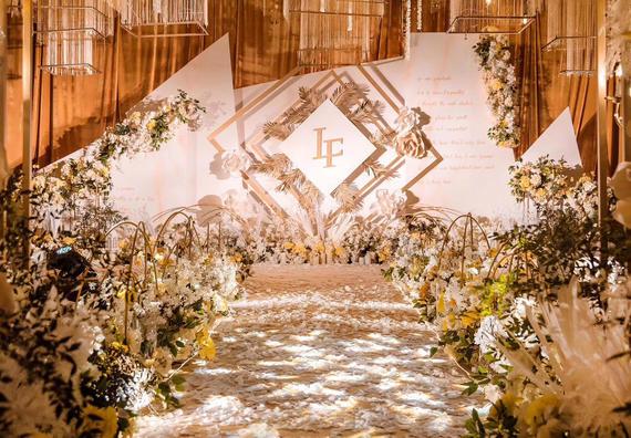 【但丁婚礼】香槟色系小清新婚礼