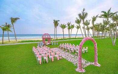 三亚微奢婚礼 | 专属粉色主题婚礼