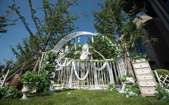 【明星婚礼】清新绿色室外婚礼 包含主持人摄影摄像
