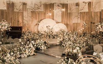 【梦悦婚礼】超值含舞台吊顶   香槟色新中式
