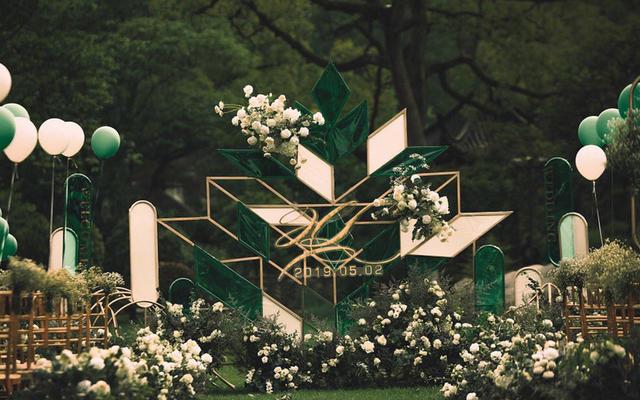 【喜上婚礼】高级祖母绿户外婚礼