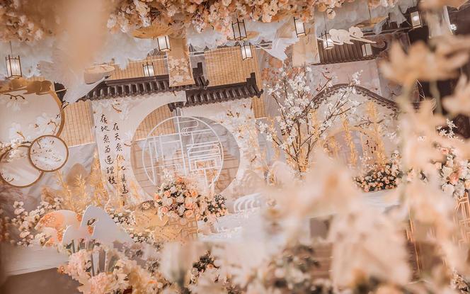 【梦梵婚礼】6折个性中国风香槟金色系婚礼