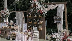 【沐堇婚礼】少女的游园会 粉色精致 户外婚礼