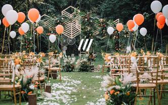 微致婚礼丨美式复古简约草坪婚礼