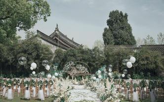 【MLILI】超人气性价比  白绿复古户外婚礼