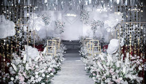 银灰色唯美婚礼●超值选●赠送四大金刚