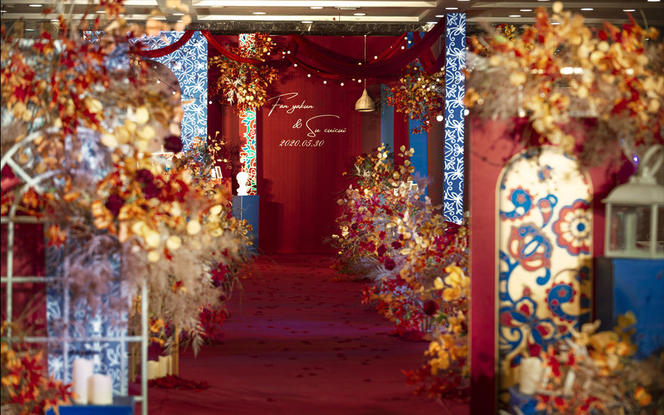 〖晶莹婚礼〗红蓝创意 复古高性价比婚礼
