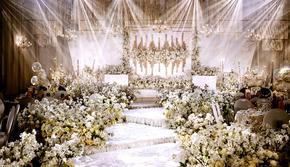 【明星同款】香槟色轻奢花海浪漫婚礼