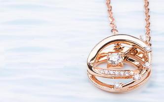 星光系列18K金钻石项链