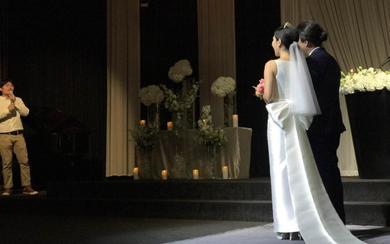 韩国新娘定制款简约款婚纱拖尾蝴蝶结