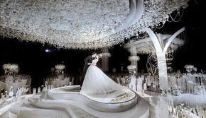 大棚婚礼室内婚礼白色大气唯美婚礼