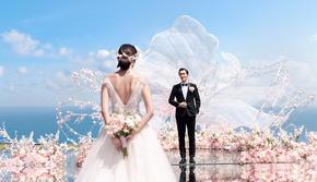 芝心海外婚礼巴厘岛爆款场地海之教堂天空水台