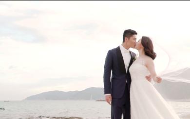 三亚亚龙湾吉瑞婚礼电影  双机摄像+航拍