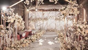 超值特价~香槟色温馨室内婚礼