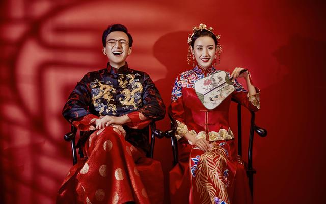 端庄典雅传统中式婚纱照风格
