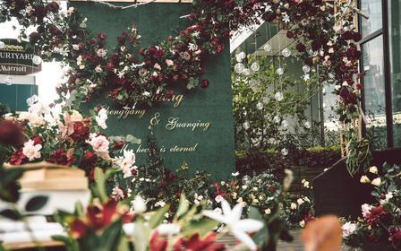 白绿色户外婚礼丨人员+布置A
