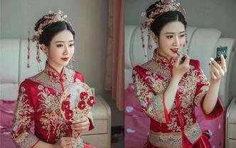 资深档新娘全天跟妆中式唯美 2个妆面2个造型