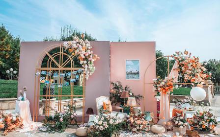 【美瑞】2021橘粉色优雅法式户外主题婚礼热推