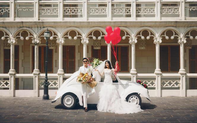 深圳玛莎莉莉婚纱摄影工作室欧式城堡韩式花田婚纱照