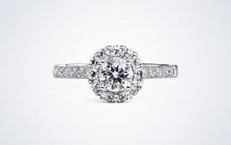 梵尼洛芙-爱慕 群镶显钻设计款求婚结婚钻戒