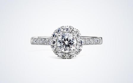 梵尼洛芙-爱慕 群镶显钻设计款求婚结婚戒指