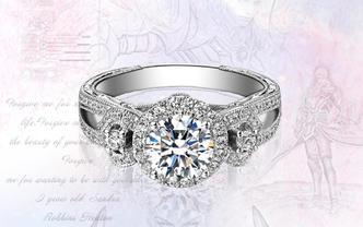 Kismet钻石工房-骑士的爱18k金铂金钻戒