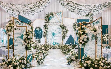 【新娘说-力推主题】孔雀蓝水彩主题 个性化色彩