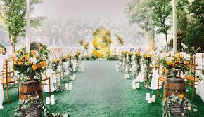 晨蔓婚礼丨白黄小清新户外婚礼