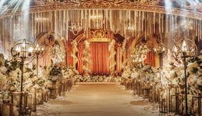 香槟色 欧式 花园 复古 婚礼