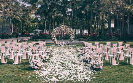 蜜月婚礼套餐--粉色花园风
