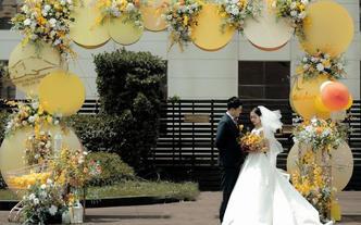 户外黄色系婚礼 超高性价比 含四大金刚