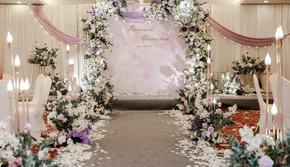 梦幻浪漫的浅紫色婚礼总是散发着一种神秘优雅的气质