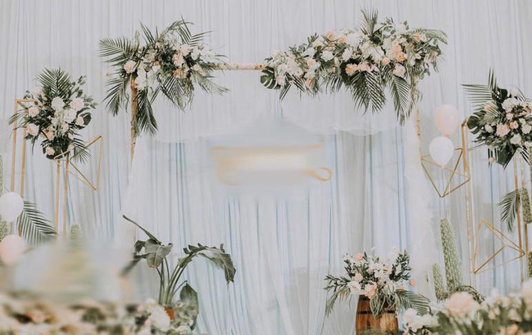六字头含婚礼司仪、化妆、摄影、摄像森系婚礼