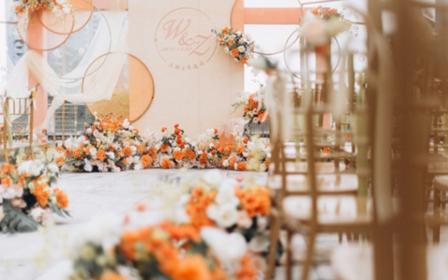 户外草坪主题婚礼《简爱橙色》喜洋洋婚礼策划